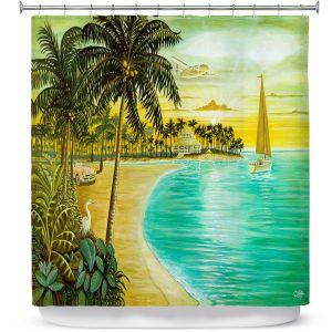 Premium Shower Curtains | Mark Watts Tropic Cove