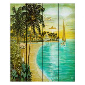 Decorative Wood Plank Wall Art | Mark Watts Tropic Cove