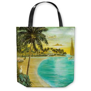 Unique Shoulder Bag Tote Bags | Mark Watts Tropic Cove