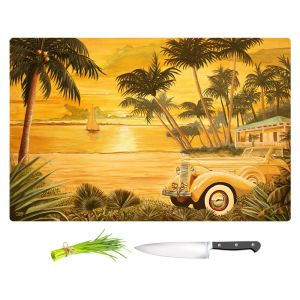 Artistic Kitchen Bar Cutting Boards | Mark Watts - Tropical Getaway