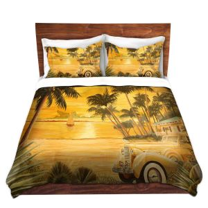 Artistic Duvet Covers and Shams Bedding | Mark Watts - Tropical Getaway