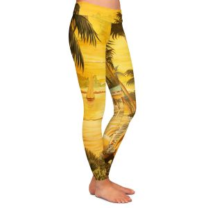 Unique Leggings Medium from DiaNoche Designs by Mark Watts - Tropical Getaway