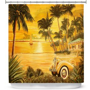 Premium Shower Curtains | Mark Watts Tropical Getaway