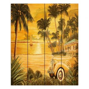 Decorative Wood Plank Wall Art | Mark Watts Tropical Getaway