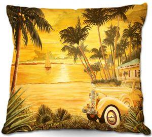 Decorative Outdoor Patio Pillow Cushion | Mark Watts - Tropical Getaway