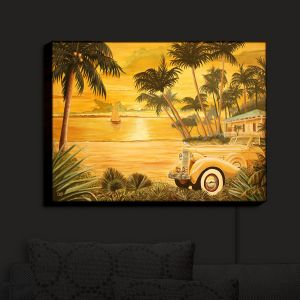 Nightlight Sconce Canvas Light | Mark Watts - Tropical Getaway