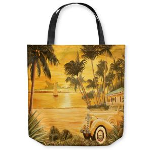 Unique Shoulder Bag Tote Bags | Mark Watts Tropical Getaway
