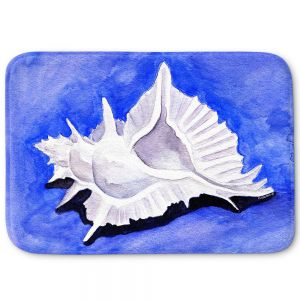 Decorative Bathroom Mats | Marley Ungaro - Alabaster Murex | Ocean seashell still life nature