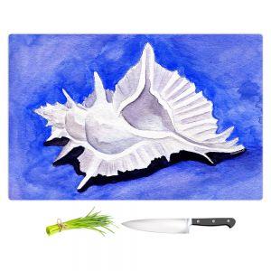 Artistic Kitchen Bar Cutting Boards   Marley Ungaro - Alabaster Murex   Ocean seashell still life nature