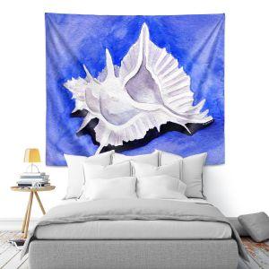 Artistic Wall Tapestry | Marley Ungaro - Alabaster Murex | Ocean seashell still life nature