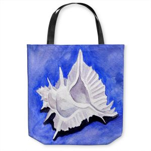 Unique Shoulder Bag Tote Bags | Marley Ungaro - Alabaster Murex | Ocean seashell still life nature