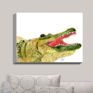 Decorative Canvas Wall Art | Marley Ungaro - Alligator | Reptiles Animals