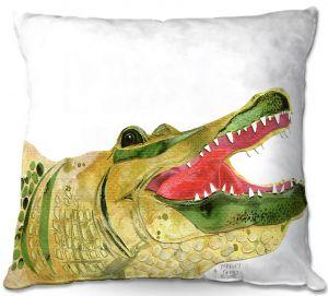 Decorative Outdoor Patio Pillow Cushion | Marley Ungaro - Alligator