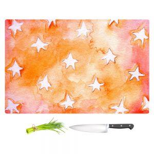 Artistic Kitchen Bar Cutting Boards | Marley Ungaro - Artsy Orange Stars