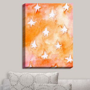 Decorative Canvas Wall Art | Marley Ungaro - Artsy Orange Stars