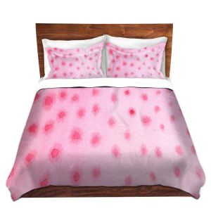 Artistic Duvet Covers and Shams Bedding | Marley Ungaro - Artsy Pink Spots
