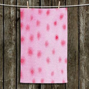 Unique Bathroom Towels | Marley Ungaro - Artsy Pink Spots