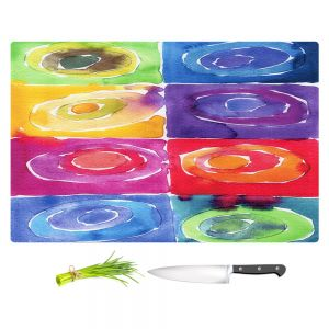 Artistic Kitchen Bar Cutting Boards | Marley Ungaro - Artsy Rainbow Box
