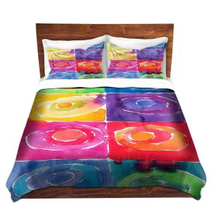Artistic Duvet Covers and Shams Bedding | Marley Ungaro - Artsy Rainbow Box