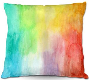 Decorative Outdoor Patio Pillow Cushion | Marley Ungaro - Artsy Rainbow Box
