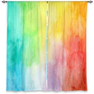 Decorative Window Treatments | Marley Ungaro Artsy Rainbow Wash