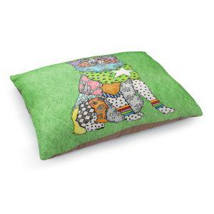 Decorative Dog Pet Beds   Marley Ungaro - Australian Shepherd Green   Abstract pattern whimsical