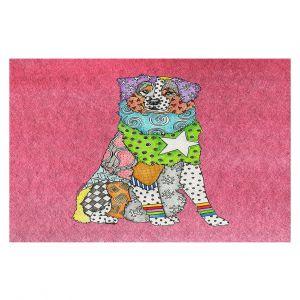 Decorative Floor Covering Mats | Marley Ungaro - Australian Shepherd Pink | Abstract pattern whimsical