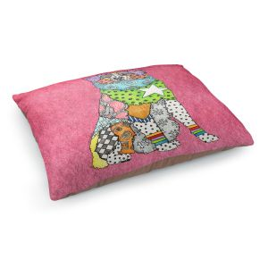 Decorative Dog Pet Beds   Marley Ungaro - Australian Shepherd Pink   Abstract pattern whimsical