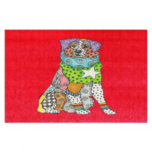 Decorative Floor Covering Mats | Marley Ungaro - Australian Shepherd Red | Abstract pattern whimsical