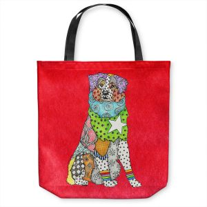 Unique Shoulder Bag Tote Bags   Marley Ungaro - Australian Shepherd Red   Abstract pattern whimsical