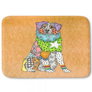 Decorative Bathroom Mats | Marley Ungaro - Australian Shepherd Tan | Abstract pattern whimsical