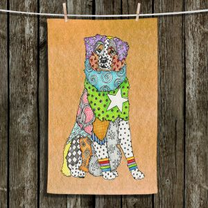 Unique Hanging Tea Towels | Marley Ungaro - Australian Shepherd Tan | Abstract pattern whimsical