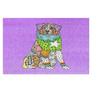 Decorative Floor Covering Mats | Marley Ungaro - Australian Shepherd Violet | Abstract pattern whimsical