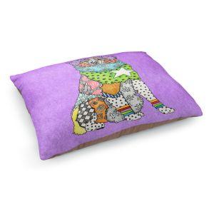Decorative Dog Pet Beds | Marley Ungaro - Australian Shepherd Violet | Abstract pattern whimsical