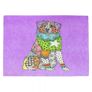 Countertop Place Mats | Marley Ungaro - Australian Shepherd Violet | Abstract pattern whimsical