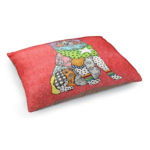 Decorative Dog Pet Beds | Marley Ungaro - Australian Shepherd Watermelon | Abstract pattern whimsical