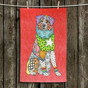 Unique Hanging Tea Towels | Marley Ungaro - Australian Shepherd Watermelon | Abstract pattern whimsical