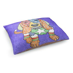 Decorative Dog Pet Beds | Marley Ungaro Basset Hound Dog Indigo