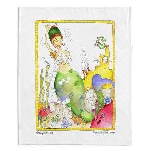 Decorative Fleece Throw Blankets | Marley Ungaro - Bathing Mermaid