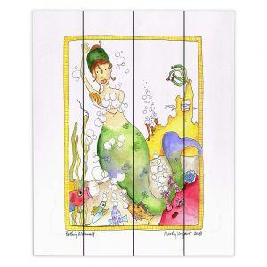 Decorative Wood Plank Wall Art | Marley Ungaro Bathing Mermaid