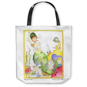 Unique Shoulder Bag Tote Bags | Marley Ungaro Bathing Mermaid