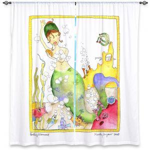 Decorative Window Treatments | Marley Ungaro Bathing Mermaid