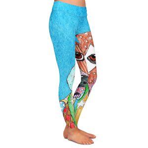 Casual Comfortable Leggings | Marley Ungaro Beagle Dog Aqua
