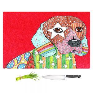 Artistic Kitchen Bar Cutting Boards | Marley Ungaro - Beagle Dog Red