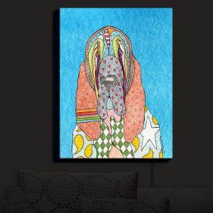 Nightlight Sconce Canvas Light | Marley Ungaro - Bloodhound Aqua