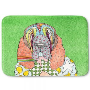 Decorative Bathroom Mats | Marley Ungaro - Bloodhound Green | Abstract pattern whimsical