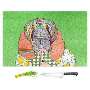 Artistic Kitchen Bar Cutting Boards | Marley Ungaro - Bloodhound Green | Abstract pattern whimsical