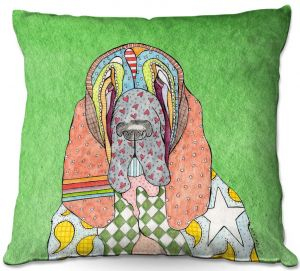 Throw Pillows Decorative Artistic   Marley Ungaro - Bloodhound Green   Abstract pattern whimsical