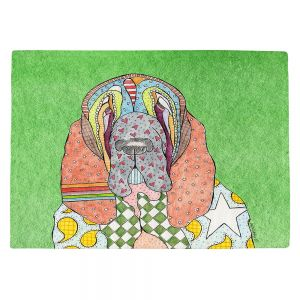 Countertop Place Mats | Marley Ungaro - Bloodhound Green | Abstract pattern whimsical