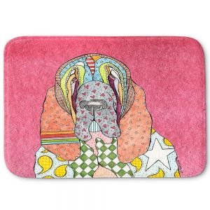 Decorative Bathroom Mats | Marley Ungaro - Bloodhound Pink | Abstract pattern whimsical